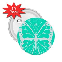 Butterfly Cut Out Flowers 2.25  Buttons (10 pack)