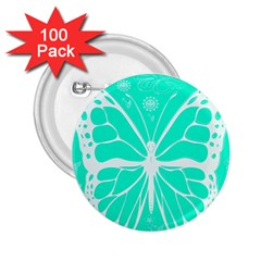 Butterfly Cut Out Flowers 2.25  Buttons (100 pack)