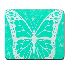 Butterfly Cut Out Flowers Large Mousepads