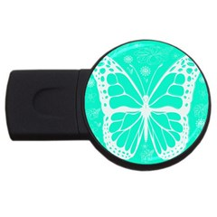 Butterfly Cut Out Flowers Usb Flash Drive Round (2 Gb)