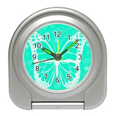 Butterfly Cut Out Flowers Travel Alarm Clocks