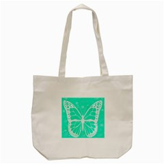 Butterfly Cut Out Flowers Tote Bag (Cream)