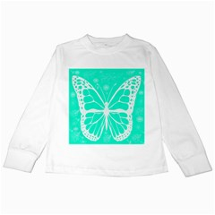 Butterfly Cut Out Flowers Kids Long Sleeve T Shirts