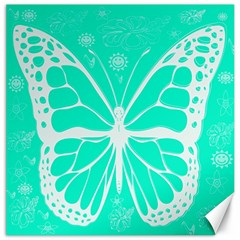 Butterfly Cut Out Flowers Canvas 20  X 20