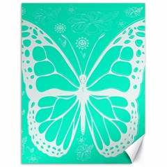 Butterfly Cut Out Flowers Canvas 18  X 24