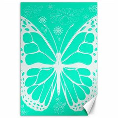 Butterfly Cut Out Flowers Canvas 20  X 30