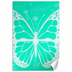 Butterfly Cut Out Flowers Canvas 24  X 36