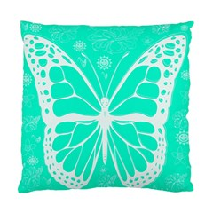 Butterfly Cut Out Flowers Standard Cushion Case (one Side)