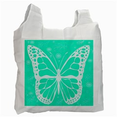 Butterfly Cut Out Flowers Recycle Bag (one Side)