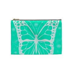Butterfly Cut Out Flowers Cosmetic Bag (medium)