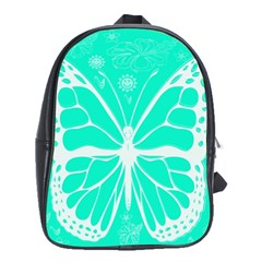 Butterfly Cut Out Flowers School Bags(large)