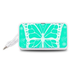 Butterfly Cut Out Flowers Portable Speaker (White)