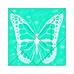 Butterfly Cut Out Flowers Acrylic Tangram Puzzle (6  X 6 )