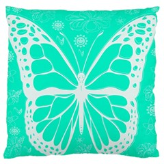 Butterfly Cut Out Flowers Large Cushion Case (Two Sides)