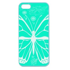 Butterfly Cut Out Flowers Apple Seamless iPhone 5 Case (Color)