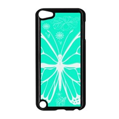 Butterfly Cut Out Flowers Apple Ipod Touch 5 Case (black)