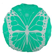 Butterfly Cut Out Flowers Large 18  Premium Round Cushions