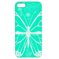 Butterfly Cut Out Flowers Apple iPhone 5 Hardshell Case with Stand