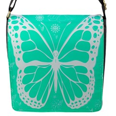 Butterfly Cut Out Flowers Flap Messenger Bag (s)