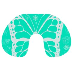 Butterfly Cut Out Flowers Travel Neck Pillows
