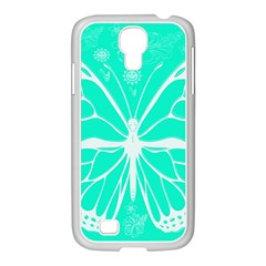 Butterfly Cut Out Flowers Samsung GALAXY S4 I9500/ I9505 Case (White)