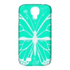 Butterfly Cut Out Flowers Samsung Galaxy S4 Classic Hardshell Case (PC+Silicone)