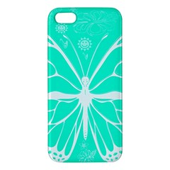 Butterfly Cut Out Flowers Iphone 5s/ Se Premium Hardshell Case
