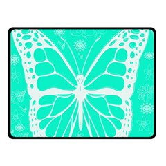 Butterfly Cut Out Flowers Double Sided Fleece Blanket (small)