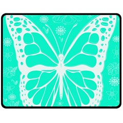 Butterfly Cut Out Flowers Double Sided Fleece Blanket (medium)