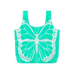 Butterfly Cut Out Flowers Full Print Recycle Bags (S)