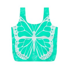Butterfly Cut Out Flowers Full Print Recycle Bags (M)