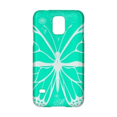 Butterfly Cut Out Flowers Samsung Galaxy S5 Hardshell Case