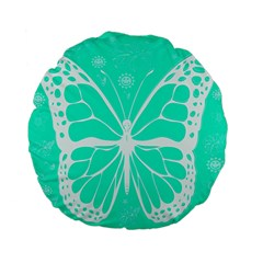 Butterfly Cut Out Flowers Standard 15  Premium Flano Round Cushions