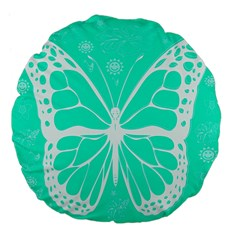 Butterfly Cut Out Flowers Large 18  Premium Flano Round Cushions