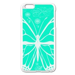 Butterfly Cut Out Flowers Apple iPhone 6 Plus/6S Plus Enamel White Case