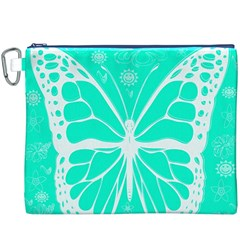 Butterfly Cut Out Flowers Canvas Cosmetic Bag (xxxl)