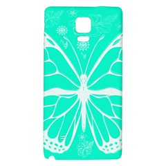 Butterfly Cut Out Flowers Galaxy Note 4 Back Case