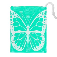 Butterfly Cut Out Flowers Drawstring Pouches (xxl)
