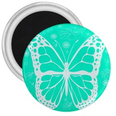 Butterfly Cut Out Flowers 3  Magnets