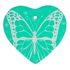 Butterfly Cut Out Flowers Ornament (heart)
