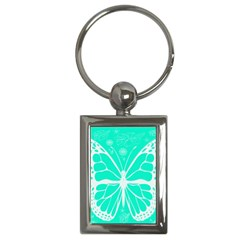 Butterfly Cut Out Flowers Key Chains (rectangle)