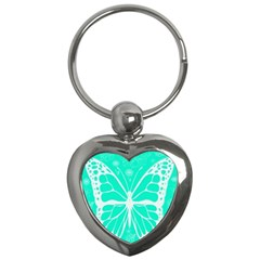Butterfly Cut Out Flowers Key Chains (Heart)