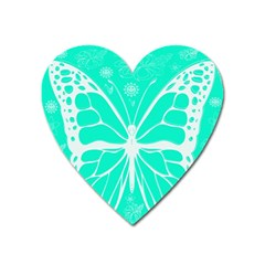 Butterfly Cut Out Flowers Heart Magnet