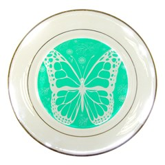 Butterfly Cut Out Flowers Porcelain Plates