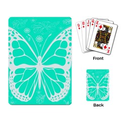 Butterfly Cut Out Flowers Playing Card