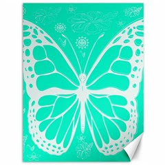 Butterfly Cut Out Flowers Canvas 36  X 48