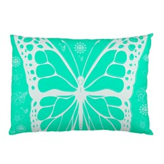 Butterfly Cut Out Flowers Pillow Case