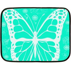 Butterfly Cut Out Flowers Double Sided Fleece Blanket (mini)