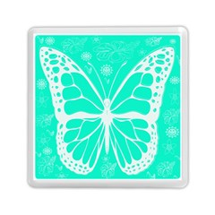 Butterfly Cut Out Flowers Memory Card Reader (square)