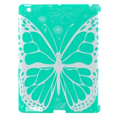 Butterfly Cut Out Flowers Apple iPad 3/4 Hardshell Case (Compatible with Smart Cover)